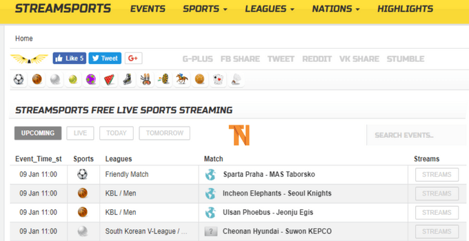 top sports streaming sites