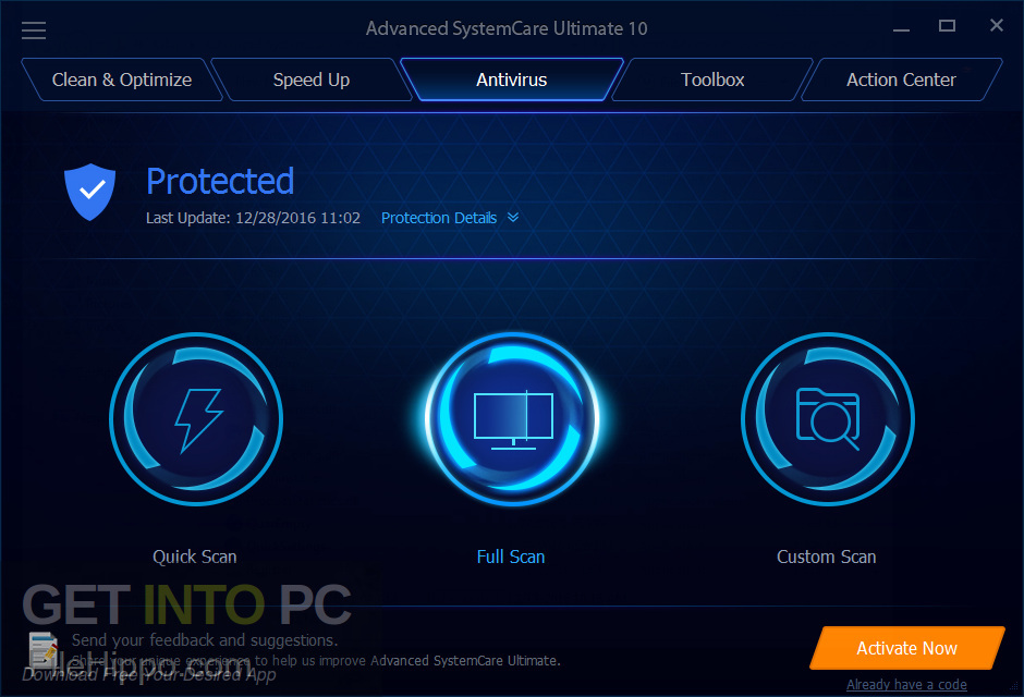 Advanced SystemCare Pro 12 Latest Version Download-GetintoPC.com