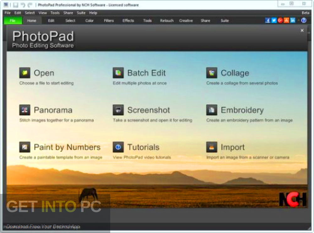 NCH PhotoPad Image Editor Professional 2017 Direct link Download-GetintoPC.com