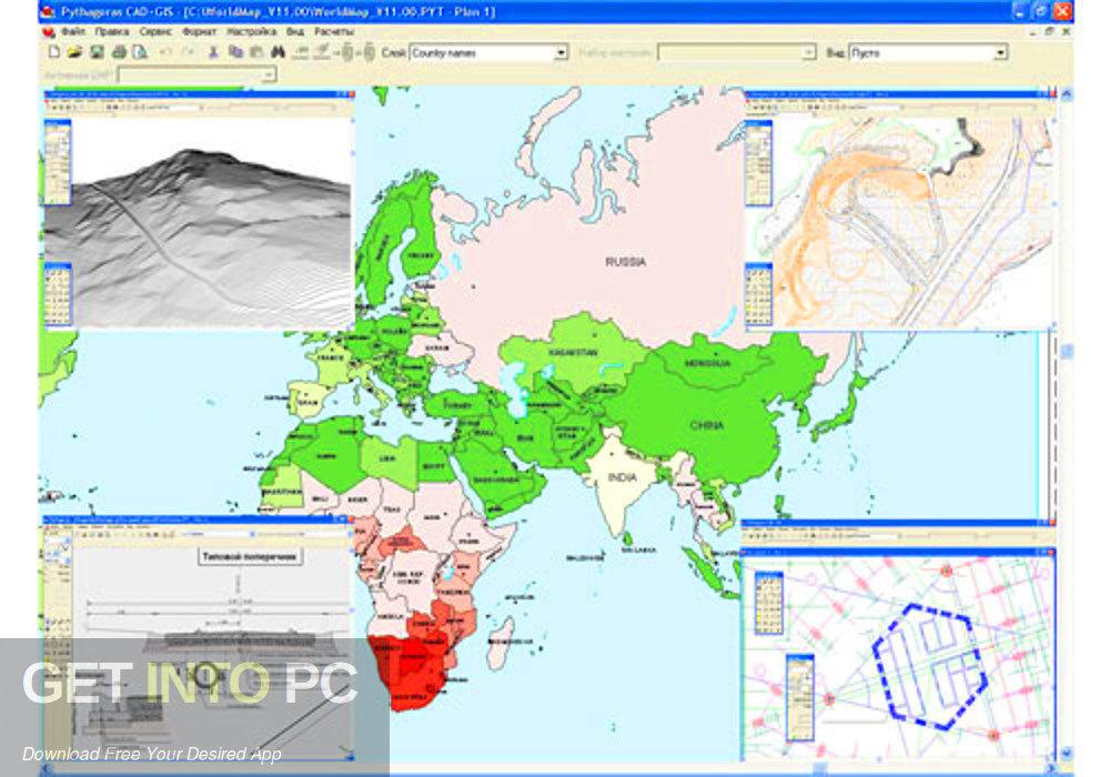 Pythagoras CAD + GIS 2012 Latest version Download-GetintoPC.com