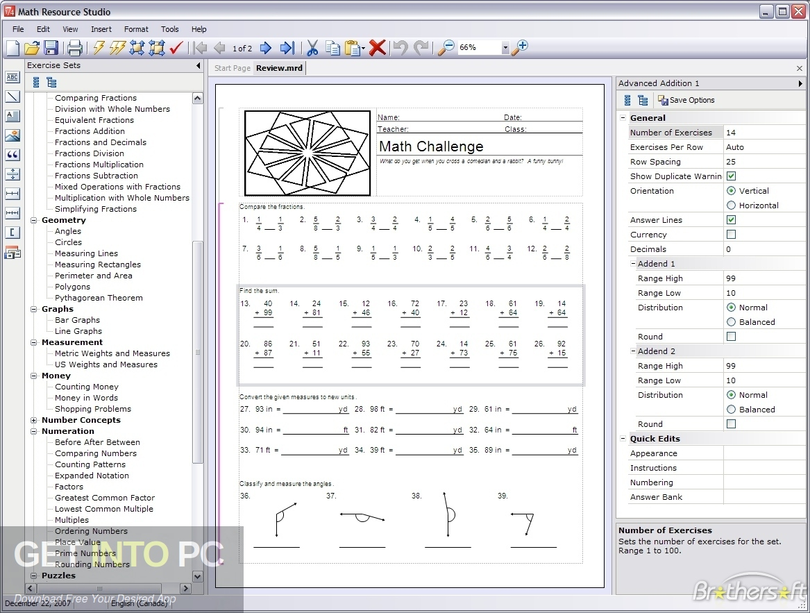 Schoolhouse Technologies Math Resource Studio Standalone Installer Download-GetintoPC.com