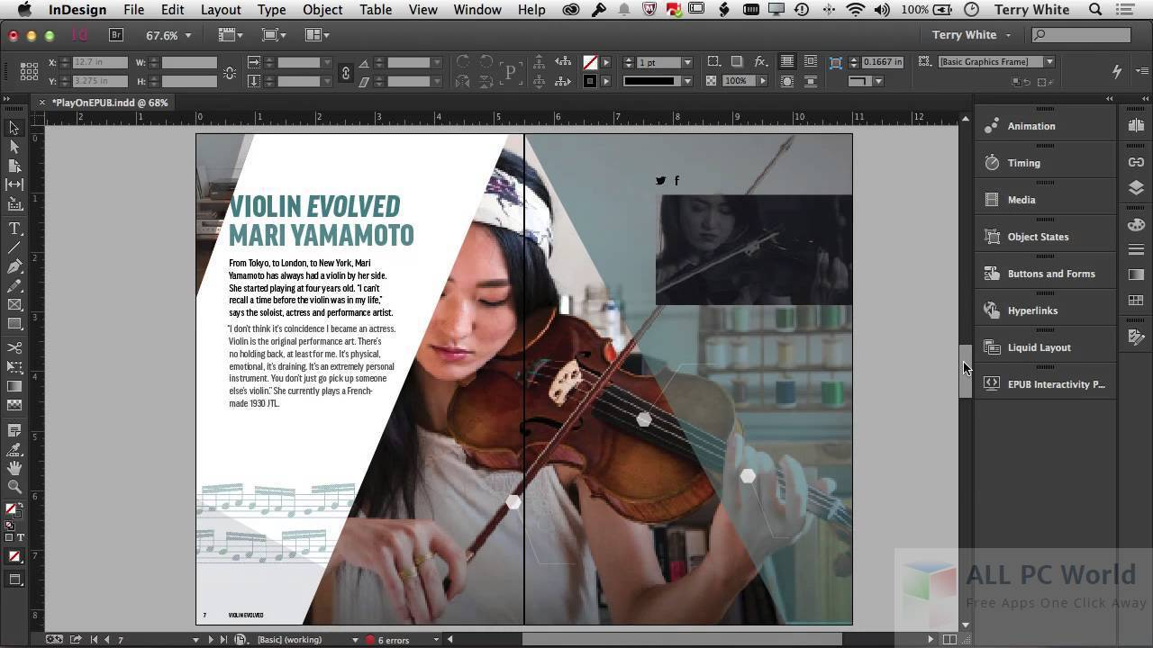 Adobe InDesign CS6 Overview and Features