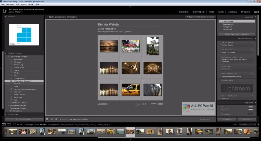 Adobe Photoshop Lightroom CC 6.8 Portable User Interface