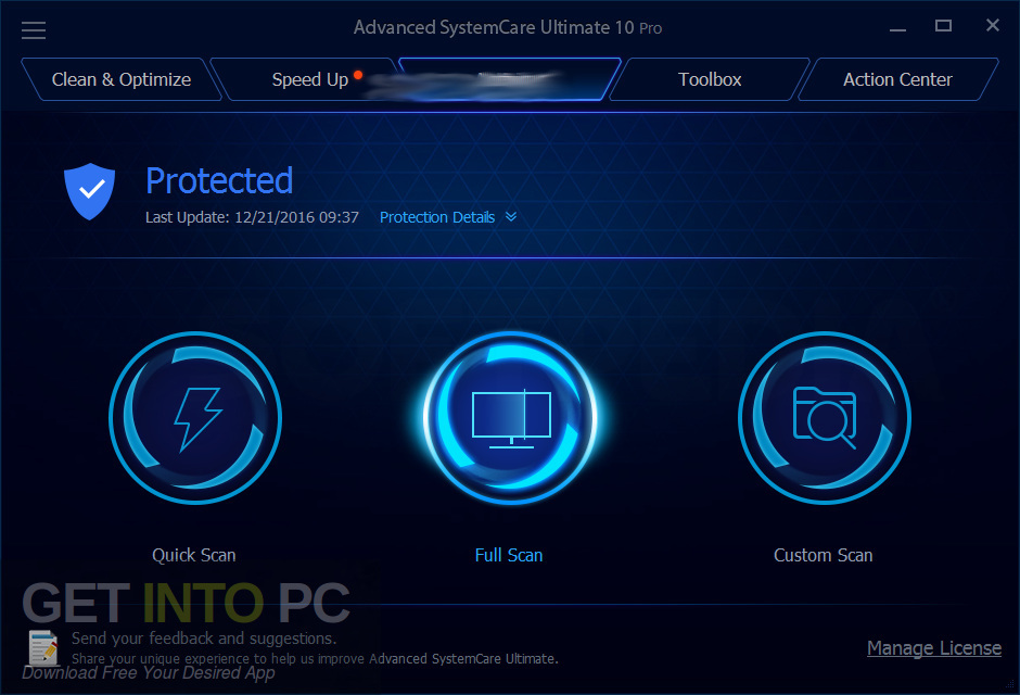 Improved standalone Systemcare Ultimate 12 installer Download-GetintoPC.com