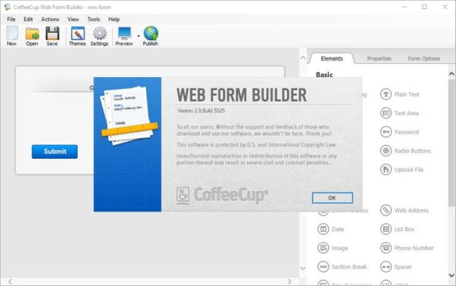 CoffeeCup Web Form Builder 2.9 Full Version