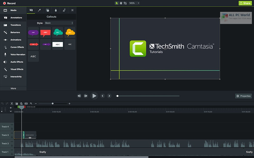 TechSmith Camtasia 2019 Free Download